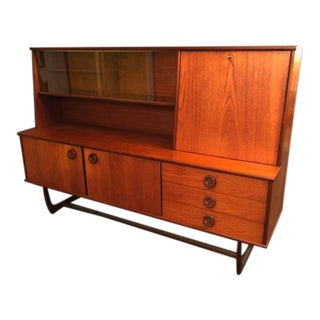 1960s Mid-Century Danish Teak Sideboard Bar For Sale