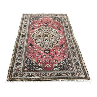 1950s Vintage Turkish Hand Knotted Rug-3′5″ × 6′ For Sale