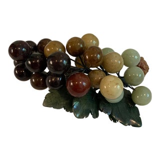 Mid 20th Century Variegated Jade Grapes Cluster For Sale