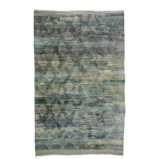 Moroccan Rug With High and Low Pile - 10'01 X 16'01 For Sale