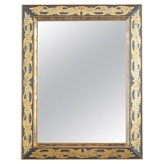 Italian Reverse Painted Eglomise Style Acanthus Mirror For Sale
