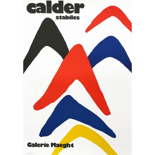 1980s Alexander Calder Poster Lithograph, Stabiles For Sale