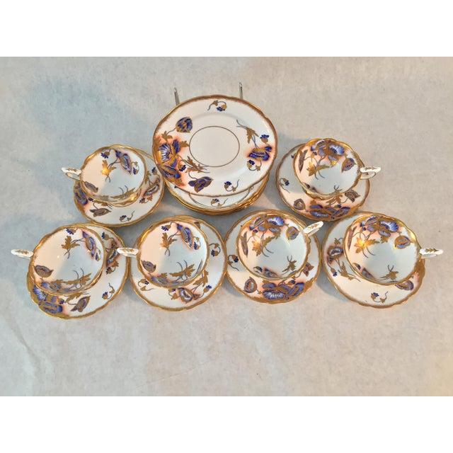 Metal 1940s Royal Stafford Tea and Dessert - Set of 12 For Sale - Image 7 of 8