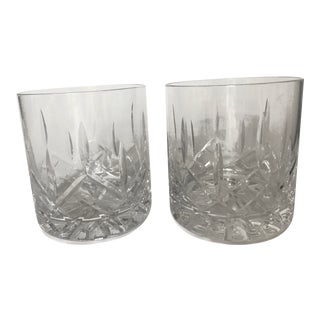 Crystal Old-Fashioned Whiskey Glasses – a Pair For Sale