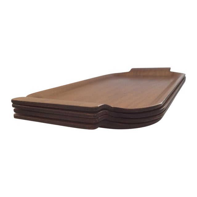Vintage Plywood Trays - Set of 4 - Image 1 of 5