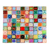 Image of Abstract Expressionist Checkerboard Mixed Media Painting For Sale