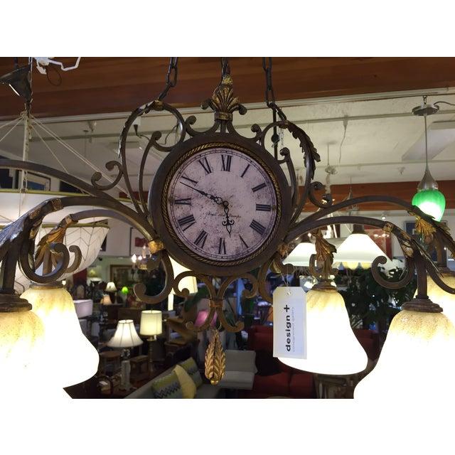Fine Art Lamps Antiqued Iron Chandelier - Image 4 of 10
