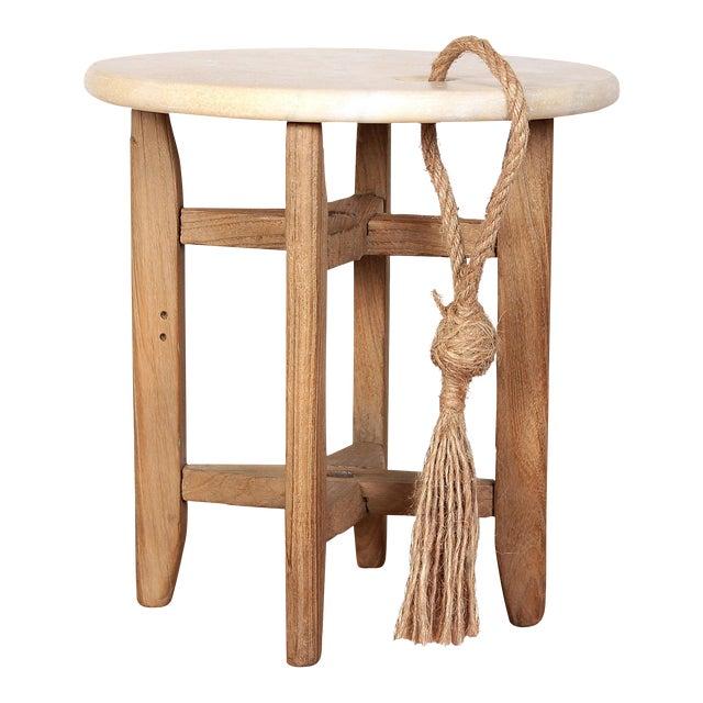 Sarreid Ltd Marble Wine & Cheese Table - Image 1 of 3