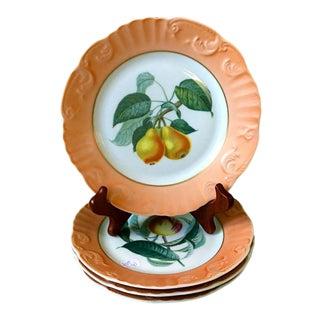 Vintage Mottahedeh Summer Fruit Plates - Set of 4 For Sale