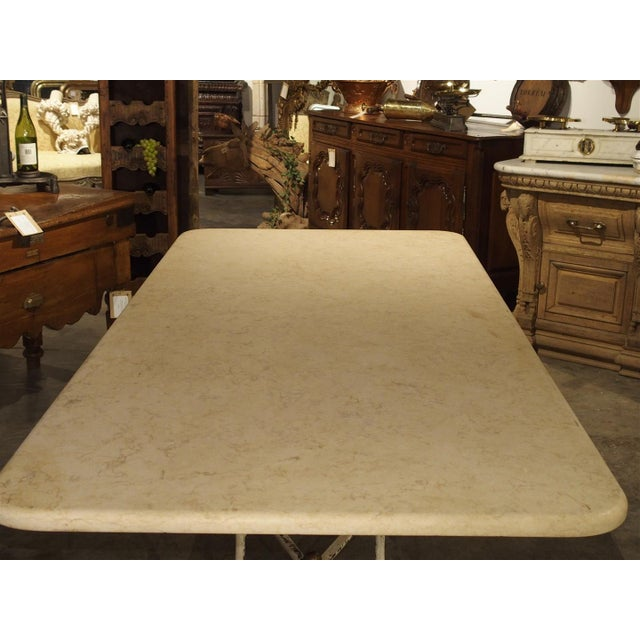 Large Antique French Iron and Marble Butcher Display Table, Circa 1915 For Sale - Image 4 of 11