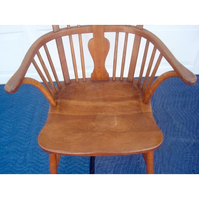 Cottage Stickley Windsor Back Dining Chairs - Set of 6 For Sale - Image 3 of 11