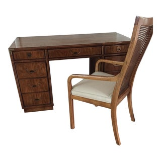 Mid-Century Drexel Heritage Campaign Desk & Chair - A Pair