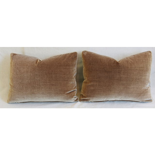 """Scalamandre Aviary & Velvet Feather/Down Pillows 22"""" X 16"""" - Pair For Sale - Image 10 of 13"""