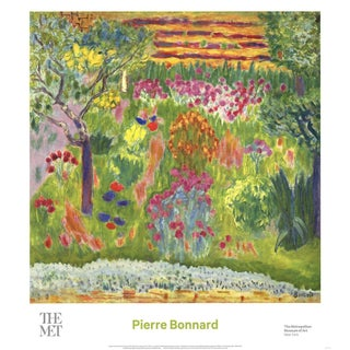 2016 Pierre Bonnard 'Garden' Contemporary Multicolor Usa Offset Lithograph For Sale