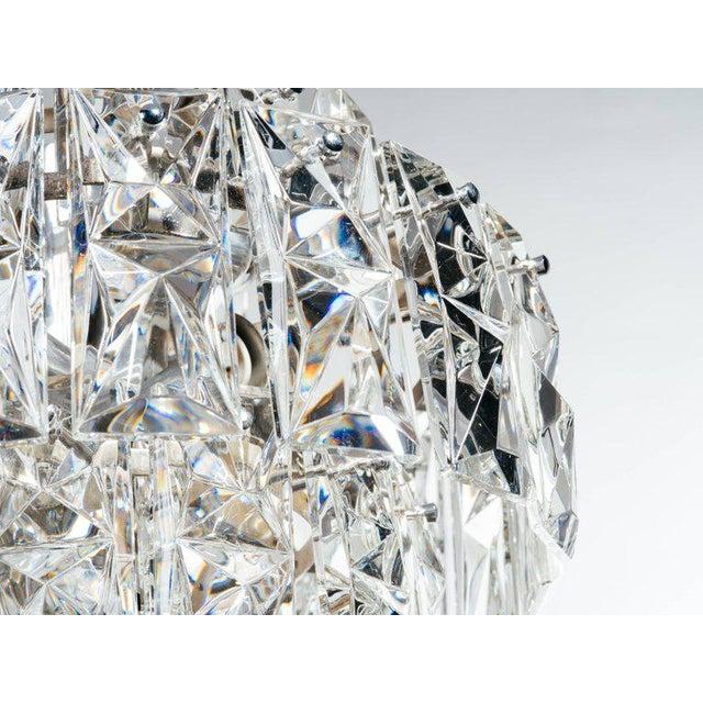 Kinkeldey German Mid-Century Modern Faceted Crystal Chandelier by Kinkeldey For Sale - Image 4 of 11