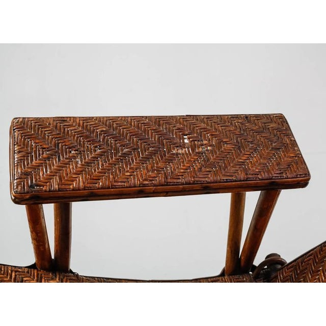 Adjustable Bamboo and Rattan Garden Chaise, Germany, 1920s-1930s For Sale - Image 9 of 10