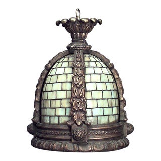 American Victorian Tiffany Style Lantern For Sale