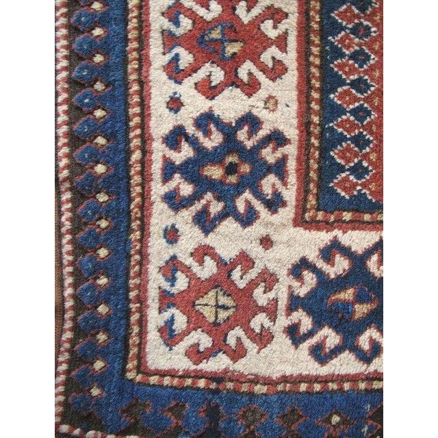 Textile Caucasian Kazak Rug For Sale - Image 7 of 8