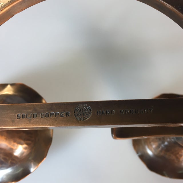 Arts & Crafts Style Solid Copper Candle Holder For Sale - Image 4 of 5