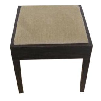 Amtrend Dark Wood Finish/Grey Upholstery Stool - Image 1 of 7