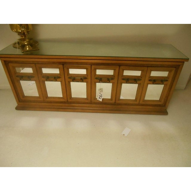 Mid-Century Modern Walnut & Mirror Credenza For Sale - Image 6 of 7