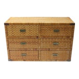 Image of Bielecky Brothers Style Rattan Chest For Sale