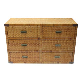 Bielecky Brothers Style Rattan Chest For Sale