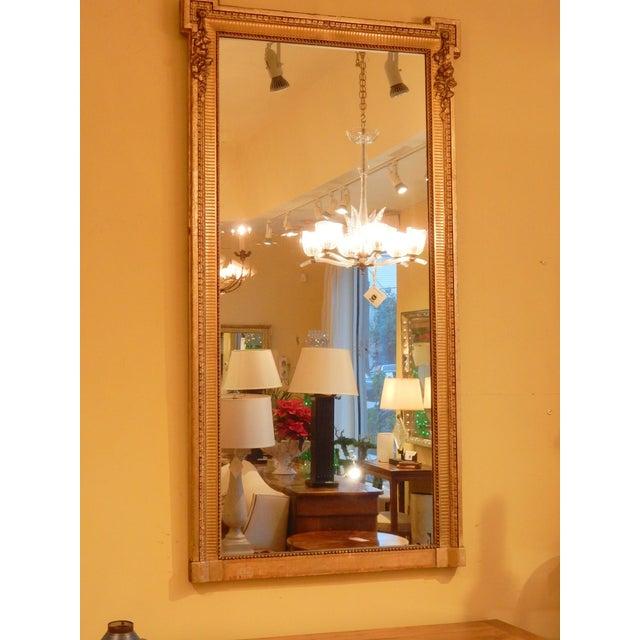 19th Century 19th Century Louis XVI Gold Gilt Mirror For Sale - Image 5 of 8
