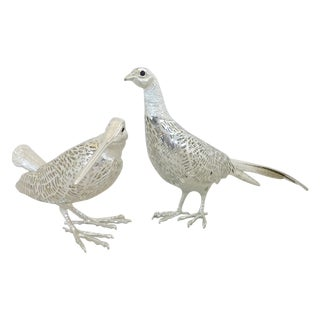 Christofle Silverplated Pheasant & Woodcock