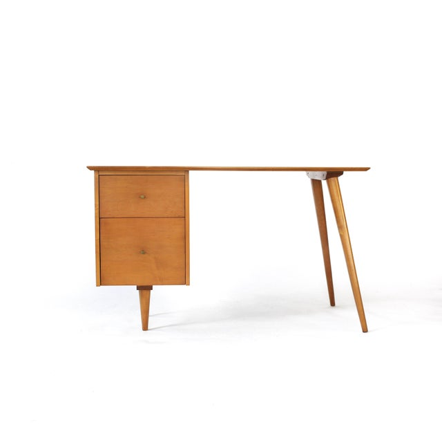 Mid-Century Modern 1960s Mid-Century Modern Paul McCobb Planner Group Winchendon Solid Maple Tanker Desk For Sale - Image 3 of 12