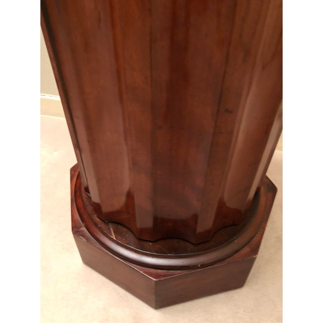 Mahogany Victorian Marble Top Mahogany Column Table For Sale - Image 7 of 9