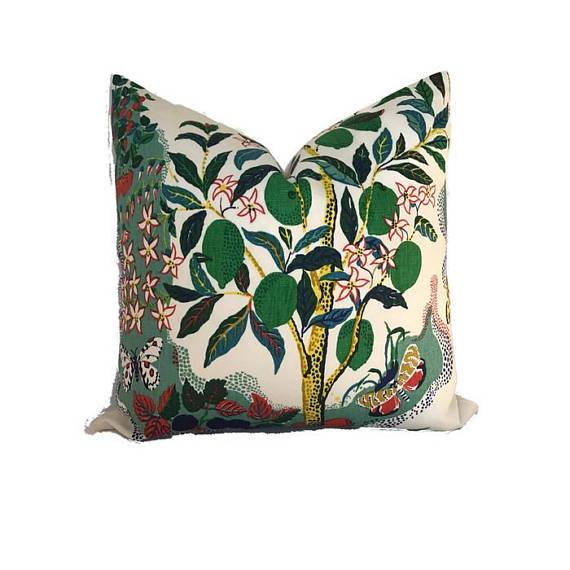 Add A New Look By Using Pillow Covers Made of Designer Fabric! UNUSED PILLOW COVER- Made to Order On the Front: Citrus...