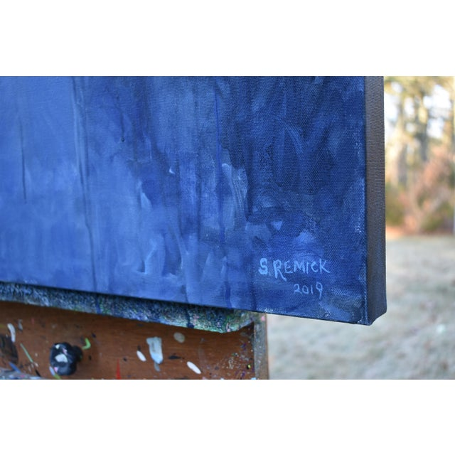 """Stephen Remick Contemporary Expressionist Painting by Stephen Remick, """"Following Moonlight"""" For Sale - Image 4 of 11"""