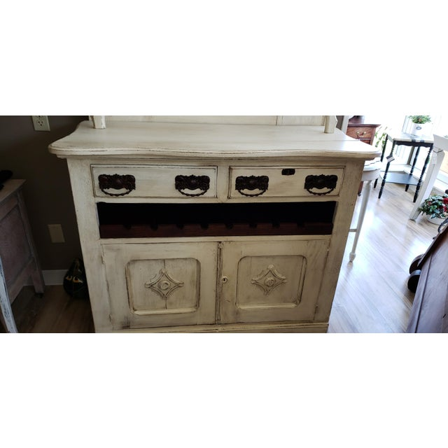 Late 19th Century Circa 1880 Farmhouse Style Buffet With Wine Rack For Sale - Image 5 of 11
