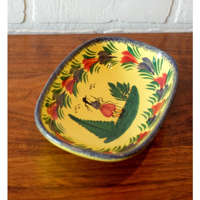 Arts & Crafts Antique French Quimper Hand Painted Tray For Sale - Image 3 of 7