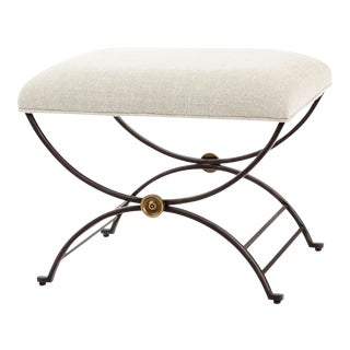Century Furniture Niles Bench with Fabric Seat For Sale