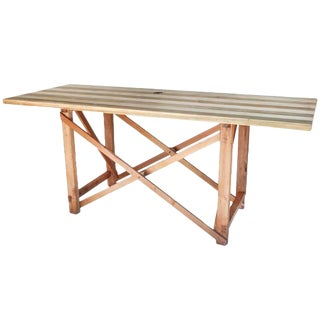 Rustic Scuplter's Table/Console For Sale