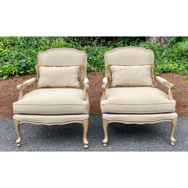 Harris Marcus Home Italian Bergere Chairs - a Pair For Sale - Image 11 of 13