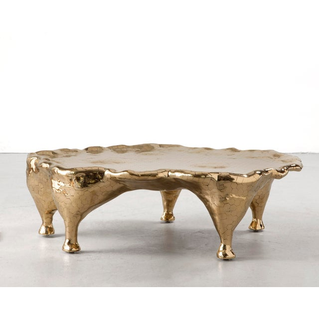 Fine Unique Hex Coffee Table In Brass Hex Tiles DECASO - Hex coffee table