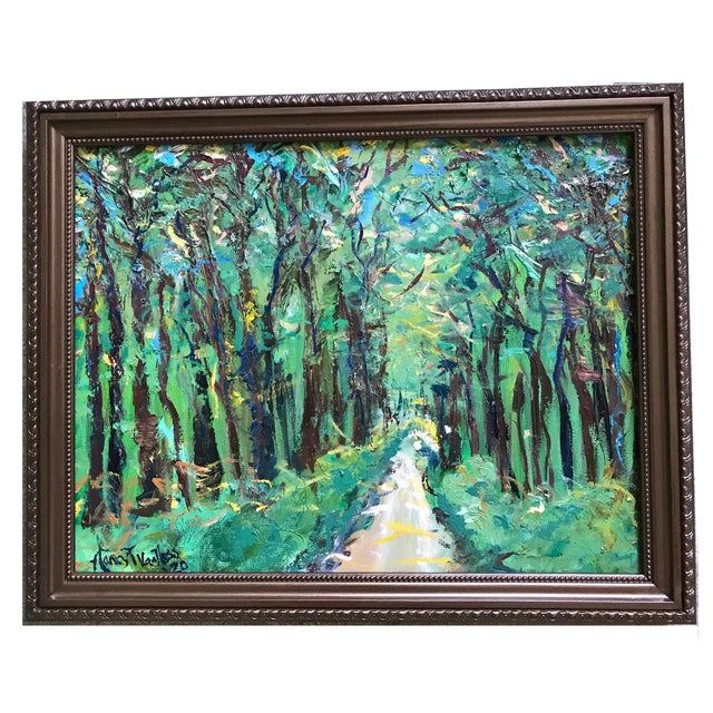 It's a Jungle Out There Original Oil Painting by Nancy T. Van Ness, Framed For Sale - Image 9 of 9