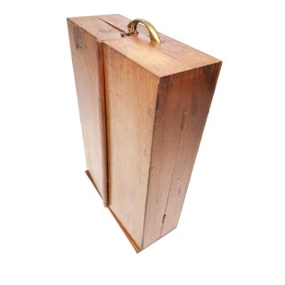 1940s Mid Century Modern Wood Portable Smoker's Pipe Cabinet For Sale