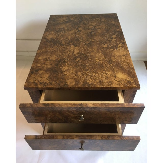 1970s Mid Century Modern Parsons-Style Tortoise Side Table For Sale - Image 5 of 8