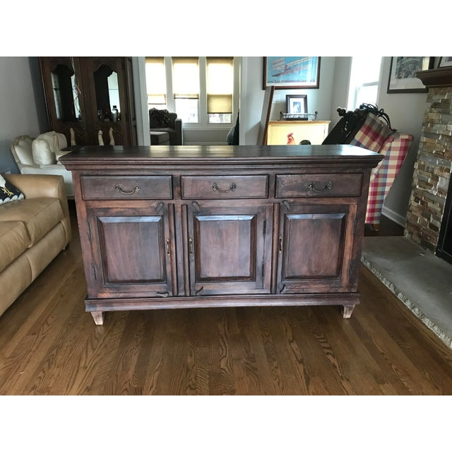 Wood Mig Sand Tig Sideboard Buffet For Sale - Image 7 of 7