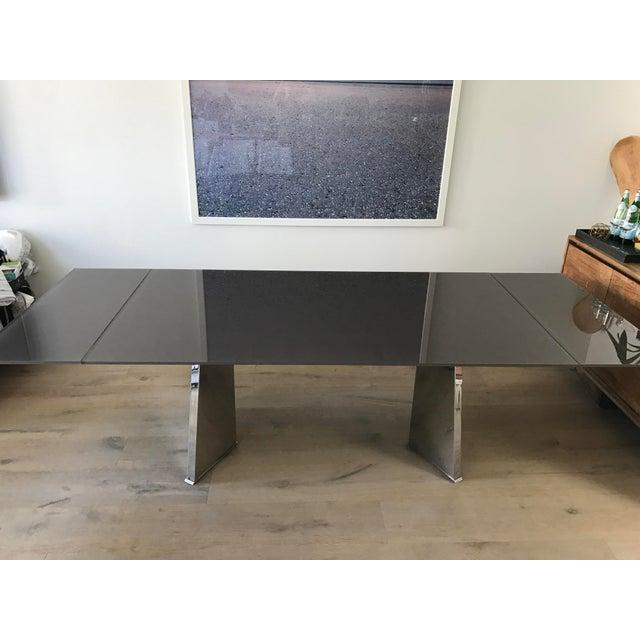 Custom Italian Modern Glass Dining Table - Image 9 of 10