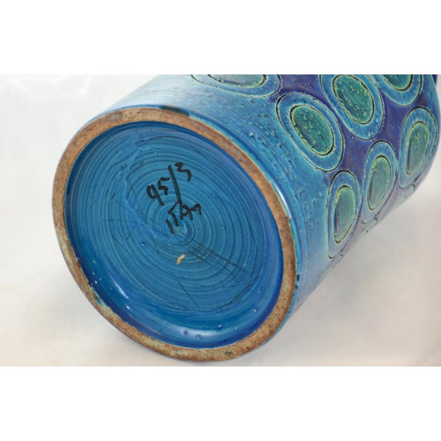 Boho Chic Bitossi Mid-Century Blue Vase For Sale - Image 3 of 4