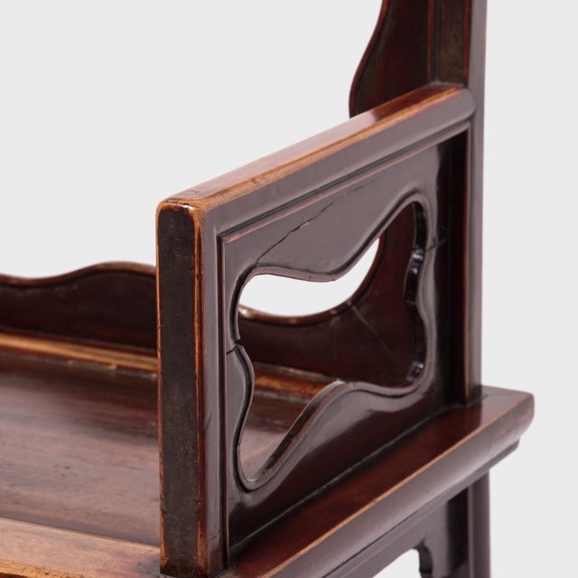 19th Century Chinese Rose Chairs - a Pair For Sale In Chicago - Image 6 of 12