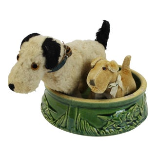 Steiff Dogs With Dog Bowl - Set of 3 For Sale