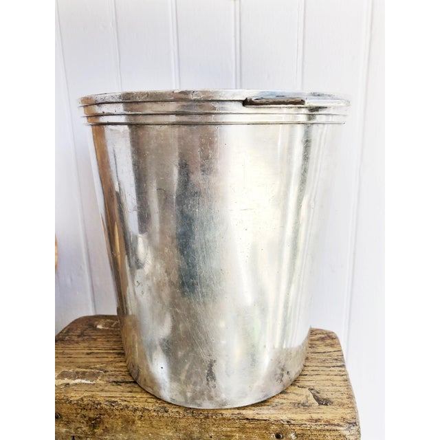 Vintage Christofle Silver Champagne Bucket From Le Colisee Hotel Paris For Sale - Image 10 of 10