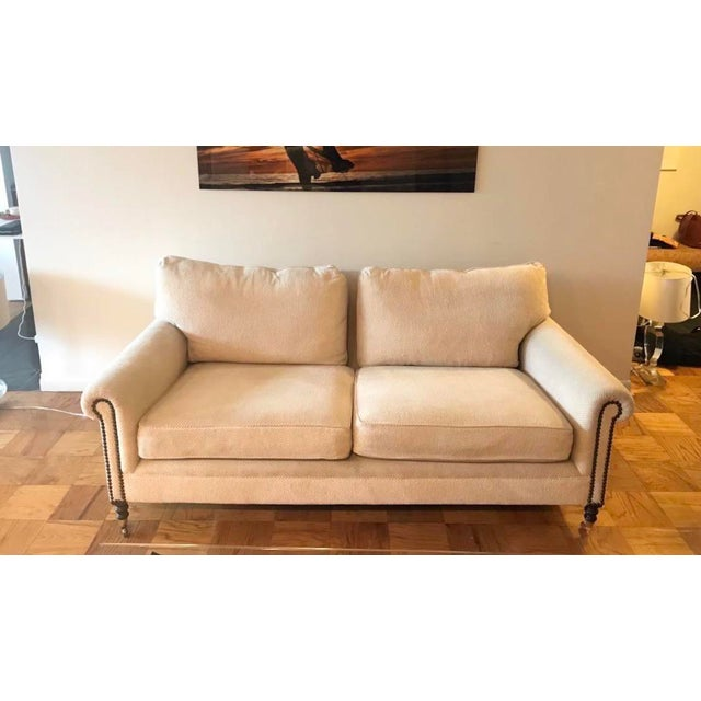 2010s George Smith Full Scroll Arm Sofa For Sale - Image 5 of 5