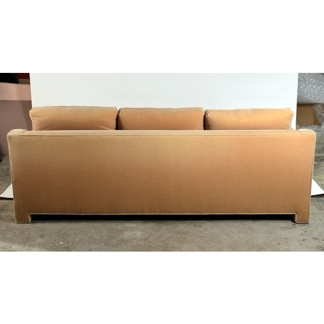 Mohair Impeccable Mohair Designer Sofa in the Style of Jean-Michel Frank For Sale - Image 7 of 10
